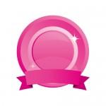ピンク色のメダルのイラレ素材