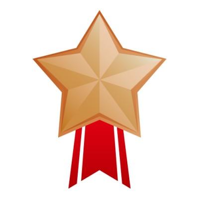 星形のブロンズメダルイラスト
