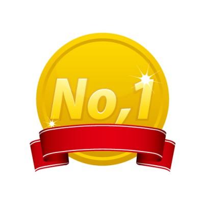 No,1 と刻まれたゴールドメダル受賞素材