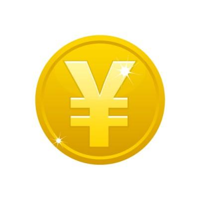 ¥(YEN)と刻まれたゴールドメダルコイン素材