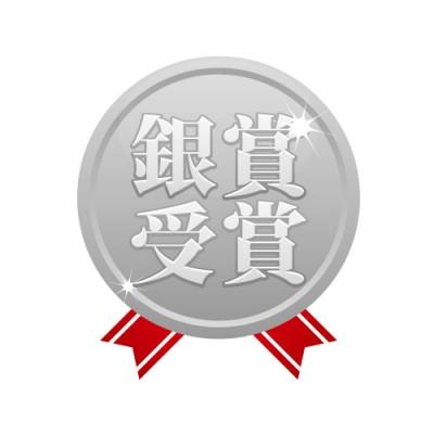 銀賞受賞と刻まれたシンプルなシルバーメダル