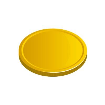 下に置かれたメダルコインイラスト