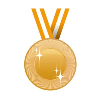 キラっと光る銅メダルイラスト