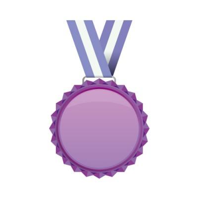 紫色のメダルのイラスト