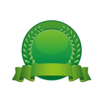 緑色のメダルのイラスト