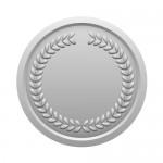 月桂冠が施された銀メダルイラスト