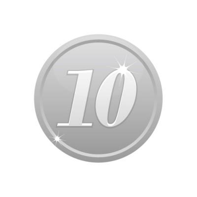 10の数字が入ったシルバーコインのイラスト