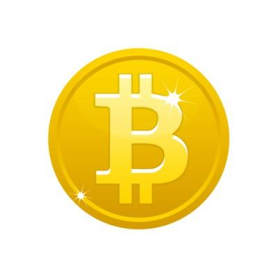Bの文字の入ったゴールドのビットコインイラスト