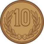 製造年度無しの簡易的な十円玉硬貨のイラスト